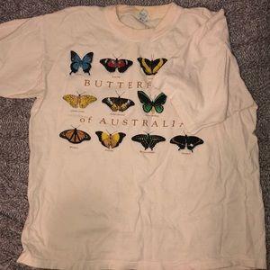 Australian butterfly t-shirt